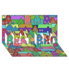 House 001 BEST BRO 3D Greeting Card (8x4)