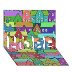 House 001 HOPE 3D Greeting Card (7x5)