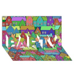 House 001 PARTY 3D Greeting Card (8x4)