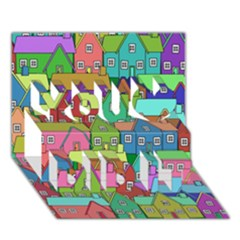 House 001 You Did It 3D Greeting Card (7x5)