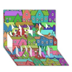 House 001 Get Well 3D Greeting Card (7x5)