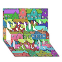 House 001 You Rock 3D Greeting Card (7x5)