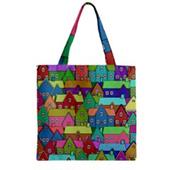 House 001 Zipper Grocery Tote Bags by JAMFoto