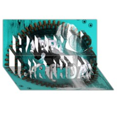 Beautiful Horse With Water Splash  Happy Birthday 3d Greeting Card (8x4)  by FantasyWorld7