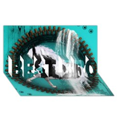 Beautiful Horse With Water Splash  Best Bro 3d Greeting Card (8x4)  by FantasyWorld7