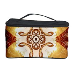 Elegant, Decorative Kaleidoskop In Gold And Red Cosmetic Storage Cases by FantasyWorld7