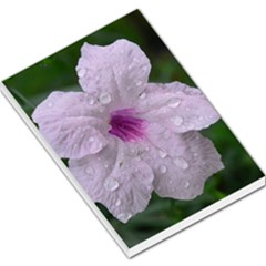 Pink Purple Flowers Large Memo Pads by timelessartoncanvas