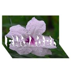 Pink Purple Flowers Engaged 3d Greeting Card (8x4)  by timelessartoncanvas
