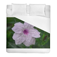 Pink Purple Flowers Duvet Cover Single Side (twin Size) by timelessartoncanvas