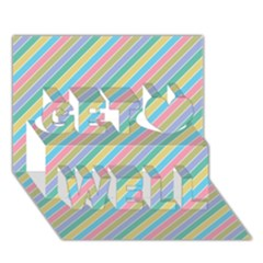Stripes 2015 0401 Get Well 3d Greeting Card (7x5)