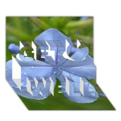 Blue Water Droplets Get Well 3d Greeting Card (7x5)