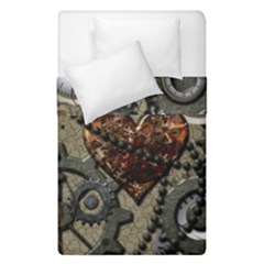 Steampunk With Heart Duvet Cover (single Size) by FantasyWorld7