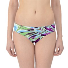 Purple, Green, And Blue Abstract Hipster Bikini Bottoms by digitaldivadesigns