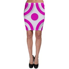 Florescent Pink White Abstract  Bodycon Skirts by OCDesignss