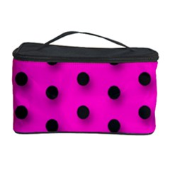 Hot Pink Black Polka Dot  Cosmetic Storage Cases