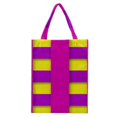 Florescent Pink Purple Abstract  Classic Tote Bags