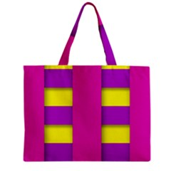 Florescent Pink Purple Abstract  Zipper Tiny Tote Bags