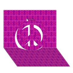 Cute Pattern Gifts Peace Sign 3d Greeting Card (7x5)  by creativemom