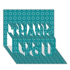 Cute Pattern Gifts Thank You 3d Greeting Card (7x5)  by creativemom