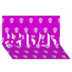 Skull Pattern Hot Pink #1 Dad 3d Greeting Card (8x4)  by MoreColorsinLife