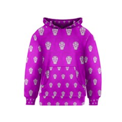 Skull Pattern Hot Pink Kid s Pullover Hoodies by MoreColorsinLife