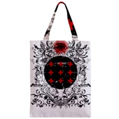 Occult Theme Zipper Classic Tote Bags by Lab80