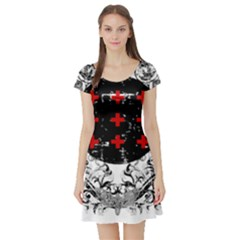 Occult Theme Short Sleeve Skater Dresses by Lab80