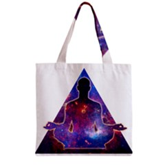 Deep Meditation Grocery Tote Bags by Lab80