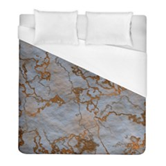 Marbled Lava Orange Duvet Cover Single Side (twin Size) by MoreColorsinLife