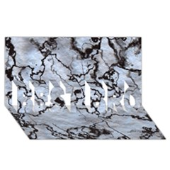 Marbled Lava White Black Best Bro 3d Greeting Card (8x4)