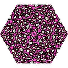 Pink Black Cheetah Abstract  Mini Folding Umbrellas by OCDesignss