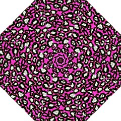 Pink Black Cheetah Abstract  Golf Umbrellas by OCDesignss