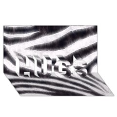 Black&white Zebra Abstract Pattern  Hugs 3d Greeting Card (8x4)  by OCDesignss