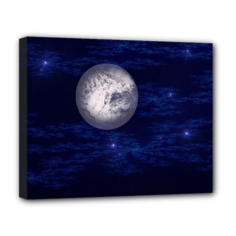 Moon And Stars Deluxe Canvas 20  X 16   by digitaldivadesigns