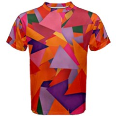 Geo Fun 8 Hot Colors Men s Cotton Tees by MoreColorsinLife