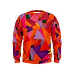 Geo Fun 8 Hot Colors Boys  Sweatshirts by MoreColorsinLife