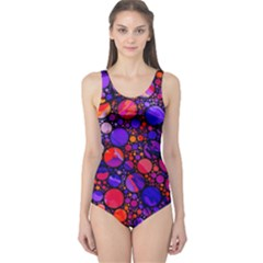 Lovely Allover Hot Shapes Women s One Piece Swimsuits by MoreColorsinLife