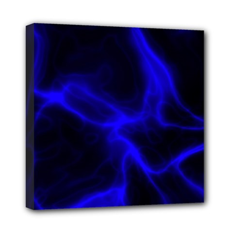 Cosmic Energy Blue Mini Canvas 8  X 8  by ImpressiveMoments