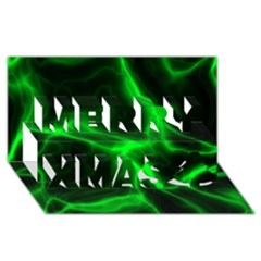 Cosmic Energy Green Merry Xmas 3d Greeting Card (8x4)  by ImpressiveMoments