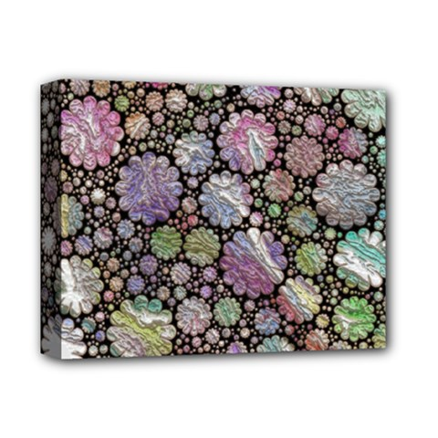 Sweet Allover 3d Flowers Deluxe Canvas 14  X 11  by MoreColorsinLife