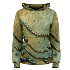 Elegant Vintage With Pearl Necklace Women s Pullover Hoodies by FantasyWorld7