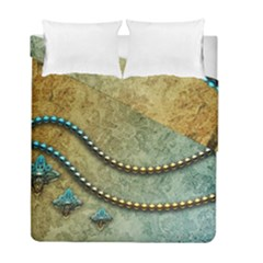 Elegant Vintage With Pearl Necklace Duvet Cover (twin Size) by FantasyWorld7