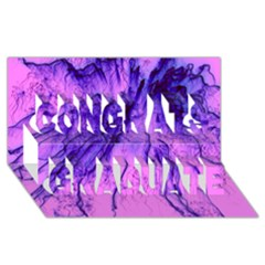 Special Fireworks Pink,blue Congrats Graduate 3d Greeting Card (8x4)  by ImpressiveMoments