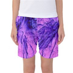 Special Fireworks Pink,blue Women s Basketball Shorts by ImpressiveMoments