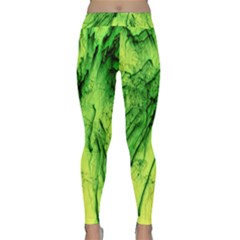 Special Fireworks, Green Yoga Leggings by ImpressiveMoments