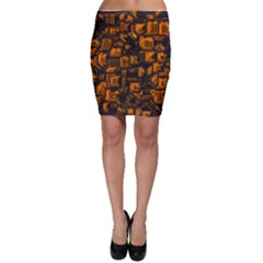 Metalart 23 Orange Bodycon Skirts by MoreColorsinLife