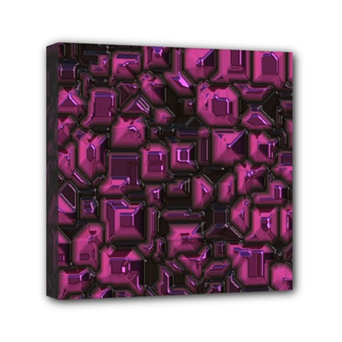 Metalart 23 Pink Mini Canvas 6  X 6  by MoreColorsinLife