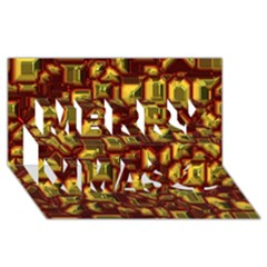 Metalart 23 Red Yellow Merry Xmas 3d Greeting Card (8x4)