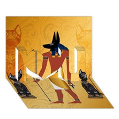 Anubis, Ancient Egyptian God Of The Dead Rituals  I Love You 3d Greeting Card (7x5)  by FantasyWorld7