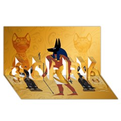 Anubis, Ancient Egyptian God Of The Dead Rituals  Sorry 3d Greeting Card (8x4)  by FantasyWorld7